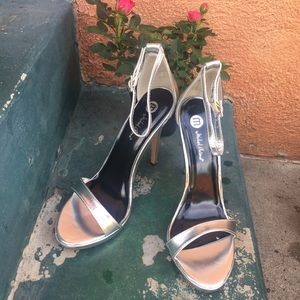 Michael Antonio Shoes - FINAL PRICE* NEW SEXY silver  strap heels size 8.5